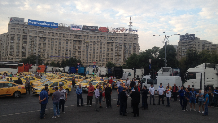 protest-al-taximetristilor-in-bucuresti-